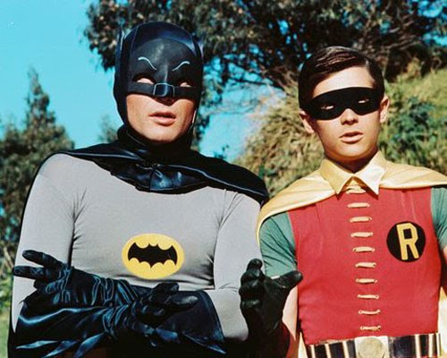 Burt Ward and Adam West as Batman in Robin in Batman the movie 1966, Leslie H. Martinson