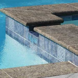classic pool tile stone