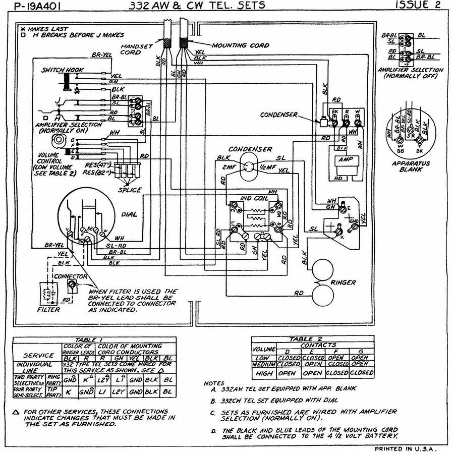 Old Telephone Wiring Diagram - efcaviation.com