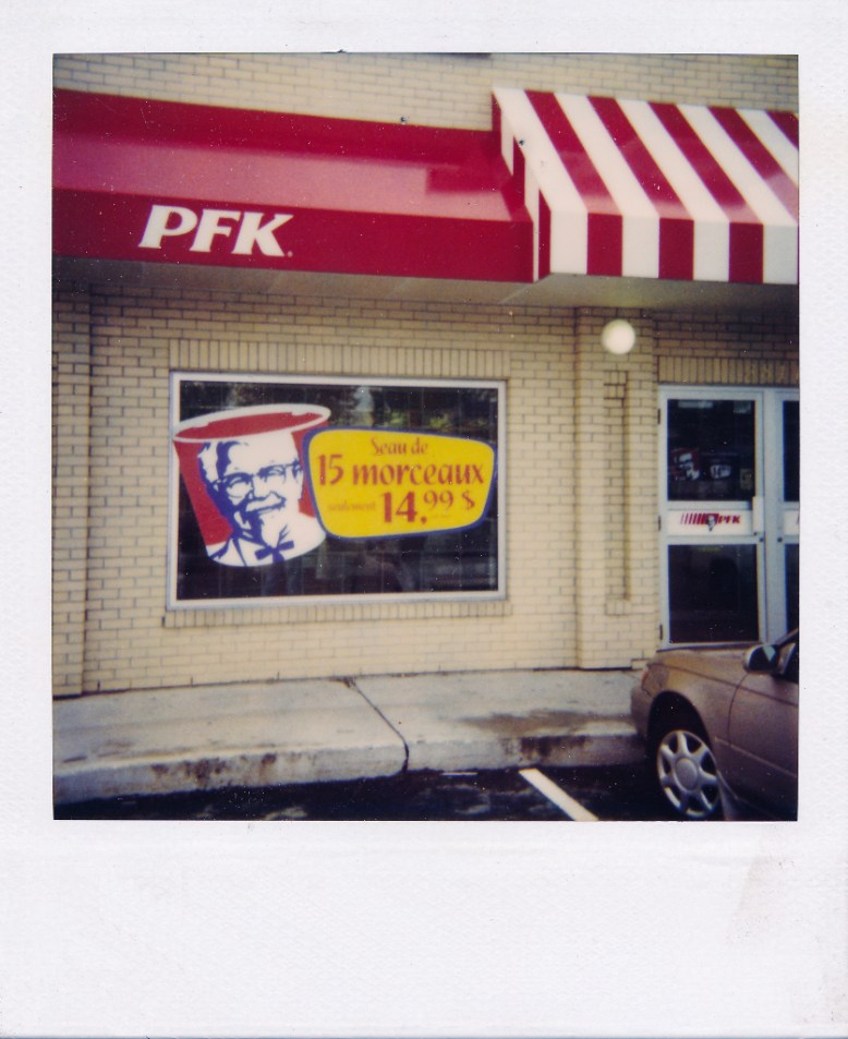 KFC PFH Store front large format printing window stickers