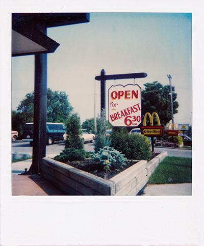McDonald's Breakfast hand painted sign
