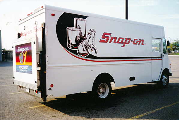Snap-on Manufacturing Tools Lettered Truck