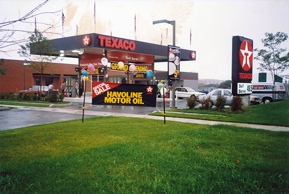 Texaco Gas Station Banner