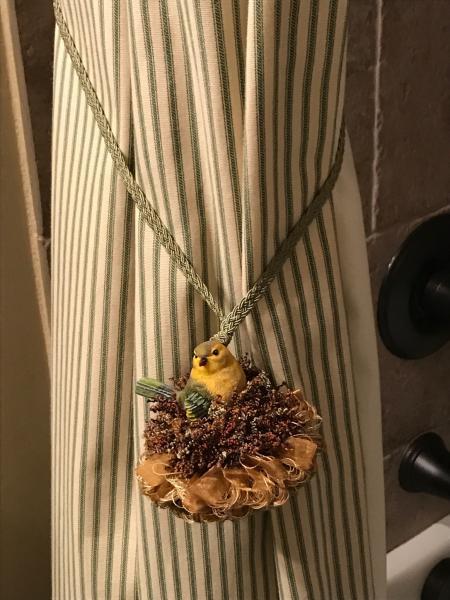 curtain tie back bird tassel