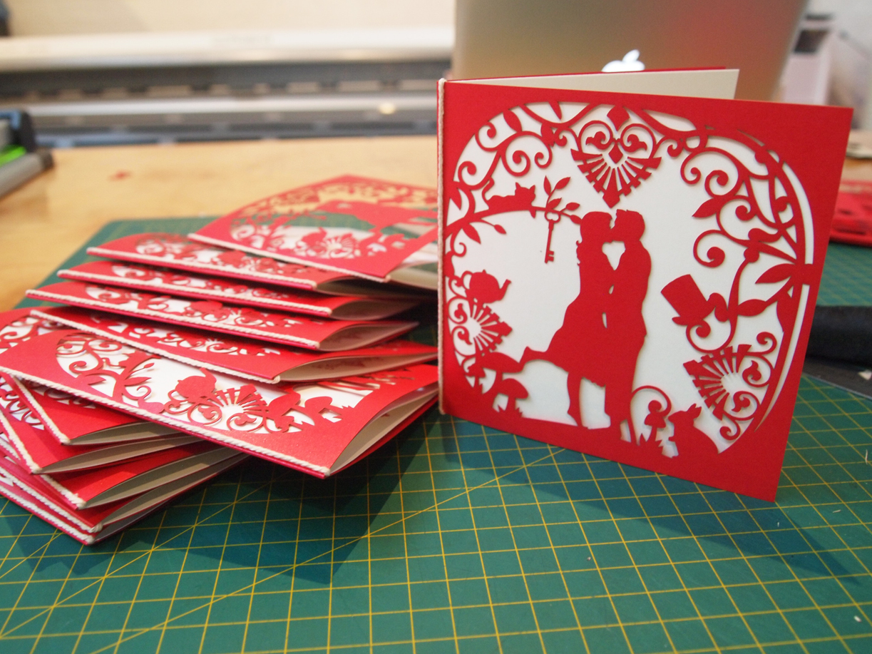 Laser Cut Out Wedding Invitations