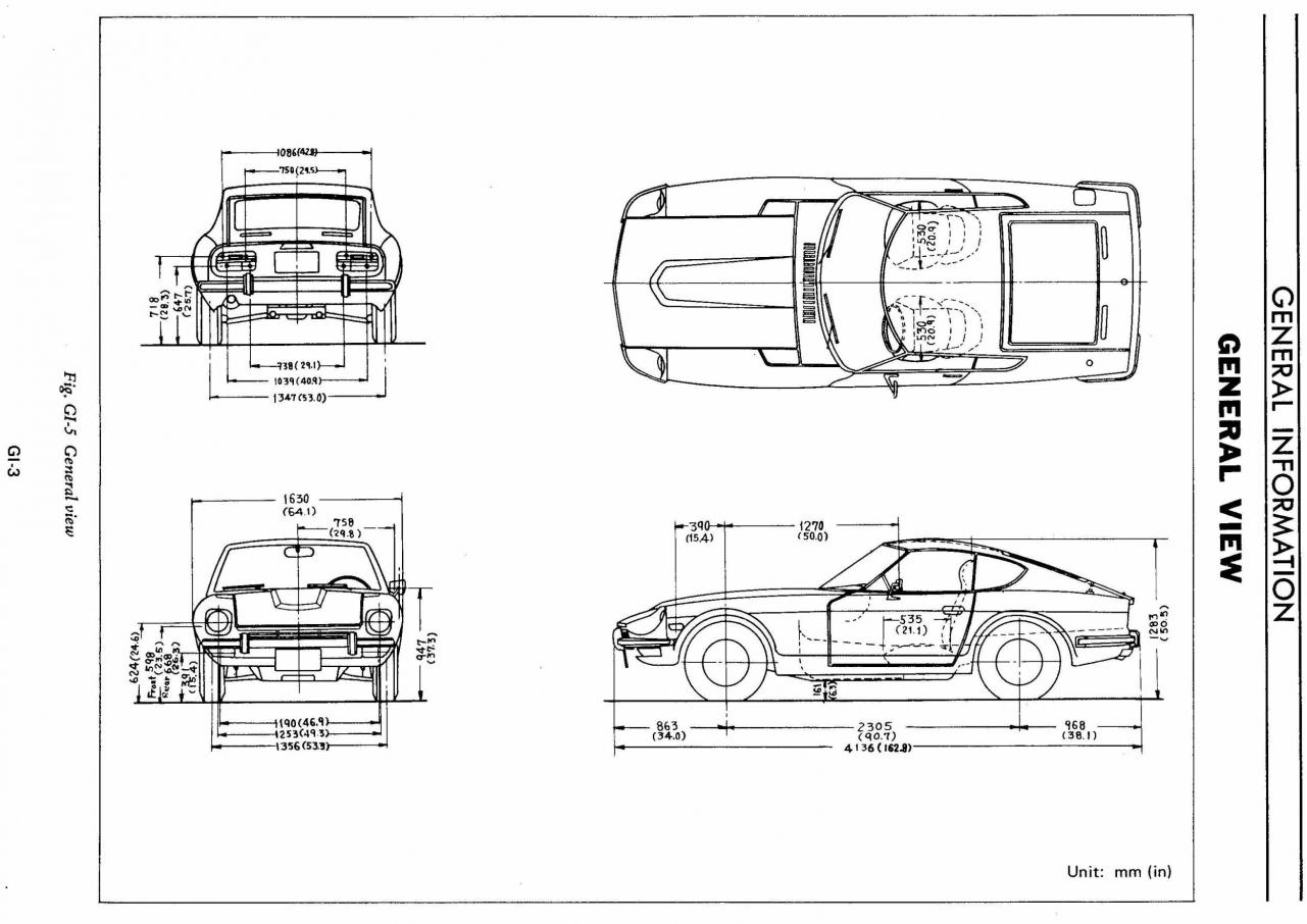 Chassis And Body Dimensions For U S 240z Available