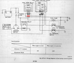 1978 Z  Fuel Pump Control Relay  Fuel Injection  The