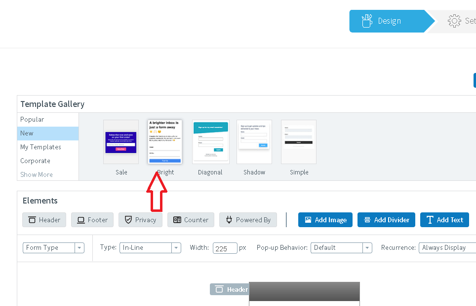 how to create a landing page with aweber choose template