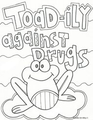 drug free coloring pages # 15