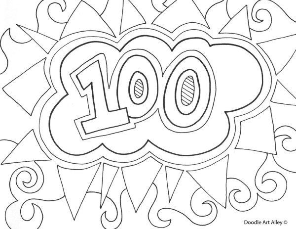100th day of school coloring pages # 10