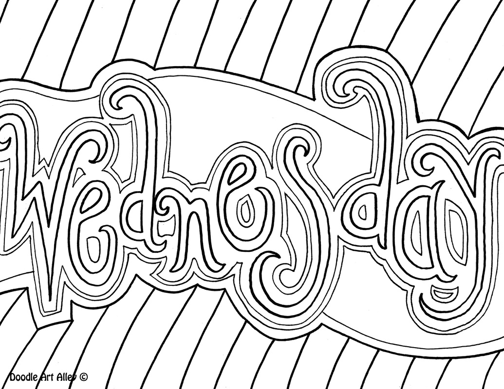 Days Of The Week Coloring Pages