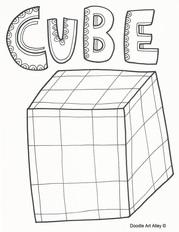 3d Shapes Classroom Doodles
