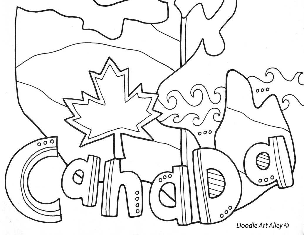 Geography Coloring Pages And Printables