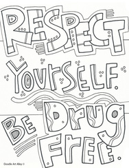 drug free coloring pages # 1