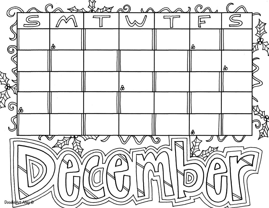 December Classroom Doodles