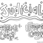 Branches Of Government Coloring Pages And Printables Classroom Doodles
