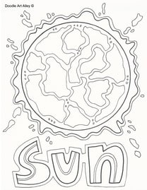 Solar System Coloring Pages Printables Classroom Doodles