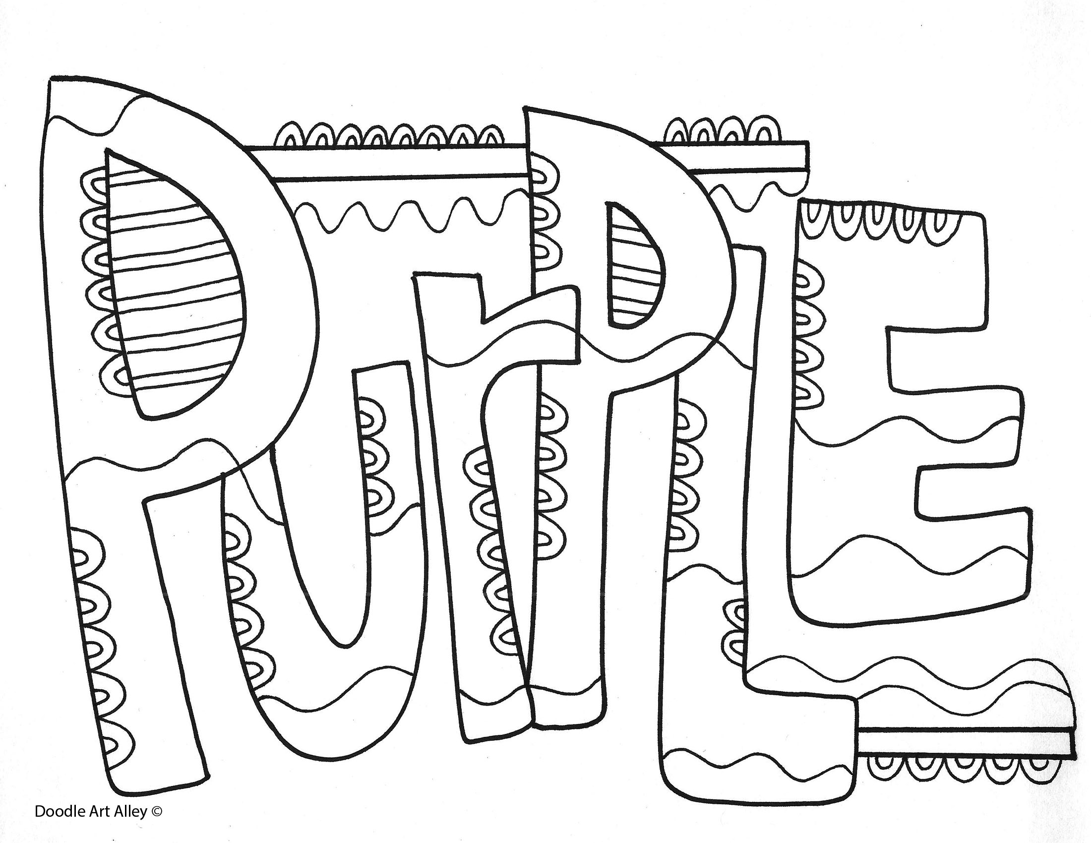 Purple Coloring Pages