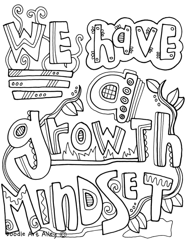 Page I Growth Coloring Have Mindset