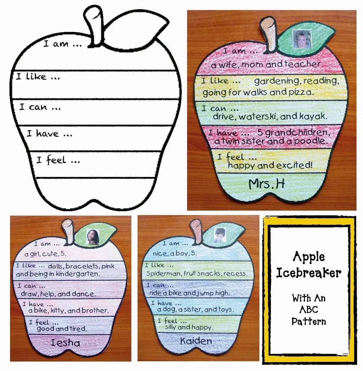 Back To School Apple Icebreaker