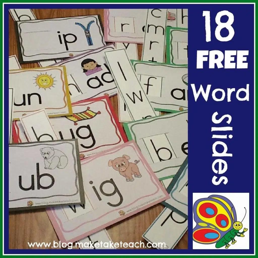 Free Word Family Sliders