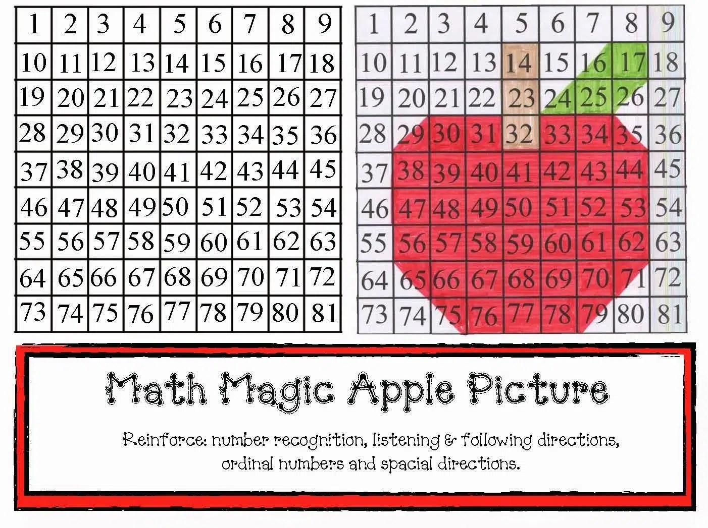 Magic Math Apple Picture