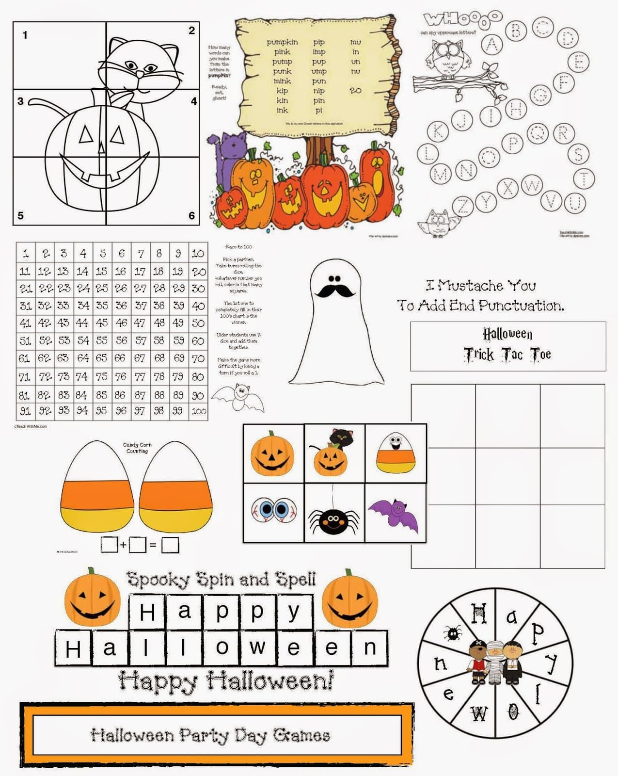 Halloween Games Sprinkled With Common Core