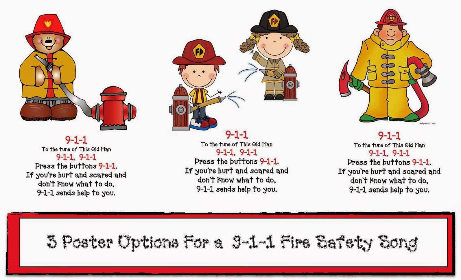 Fire Safety 911 Posters And Song