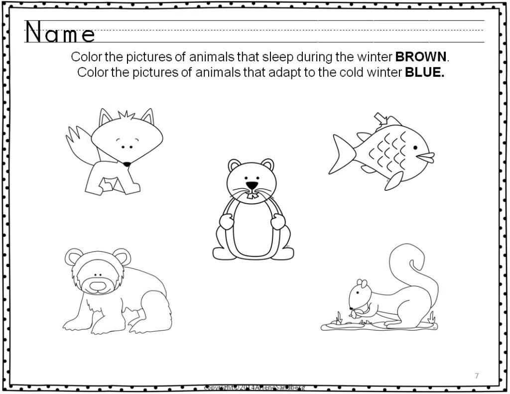 Animals In Winter Literacy Activities