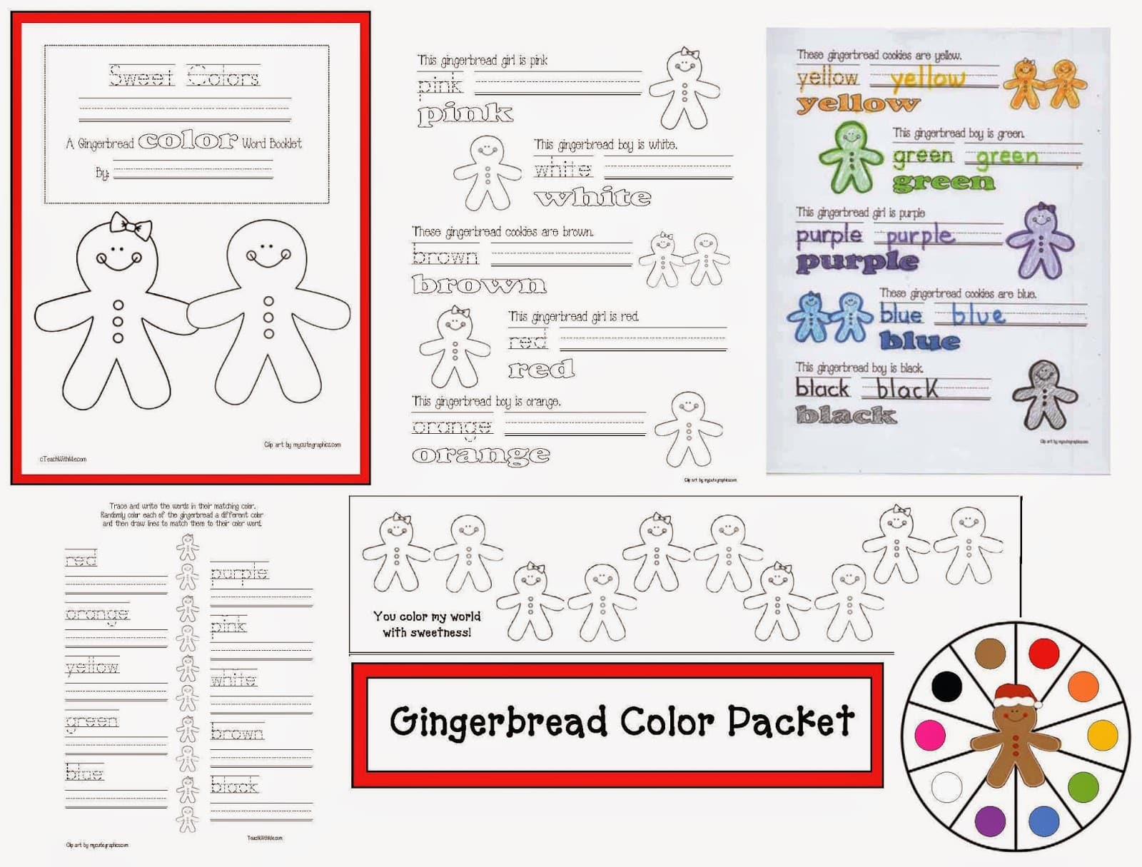 Gingerbread Color Games Amp Activitries Packet