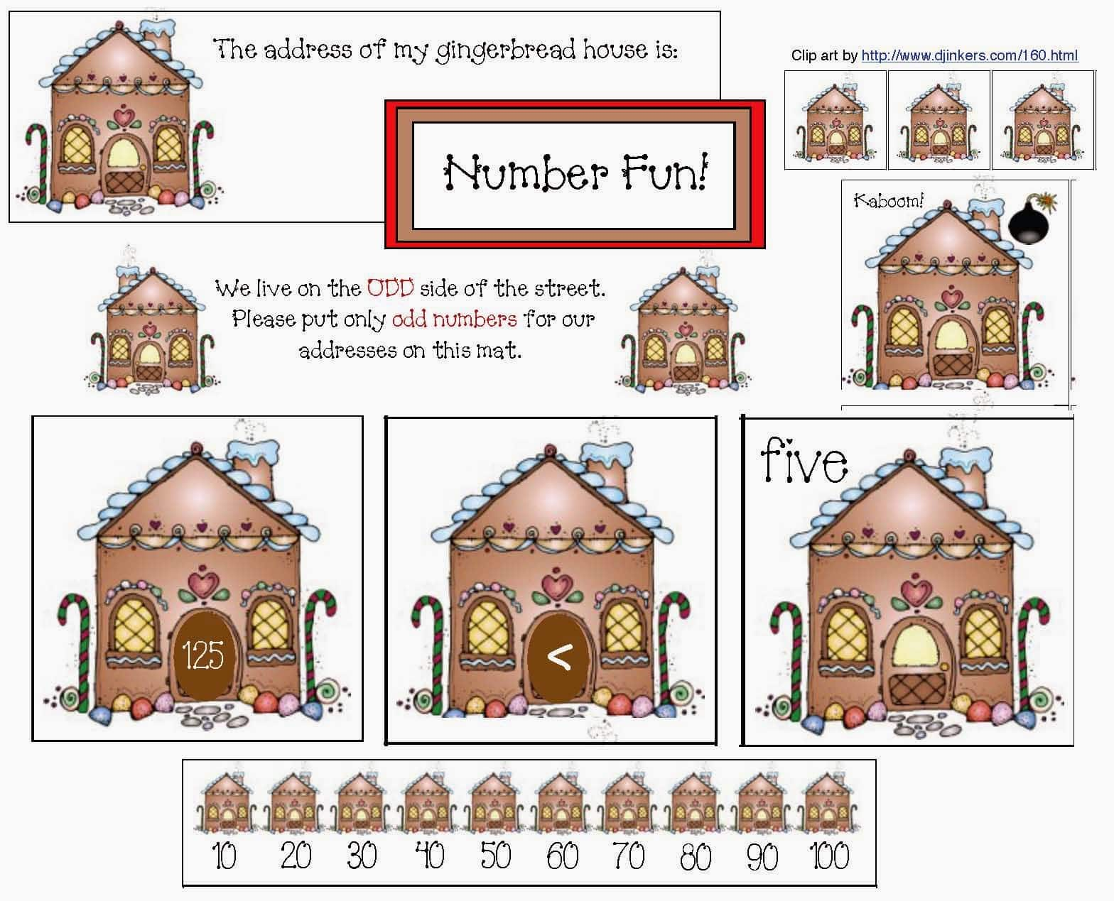 Gingerbread House Math Fun