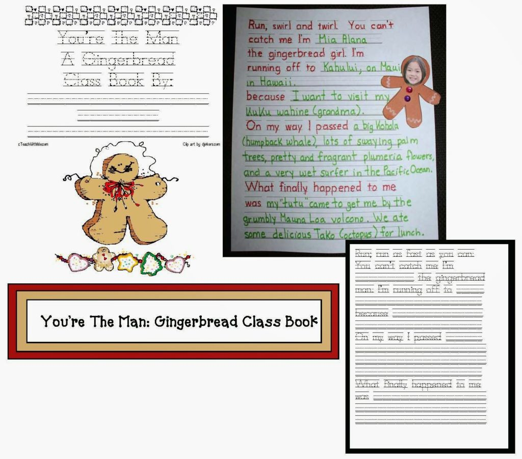 You Re The Man Creative Gingerbread Writing