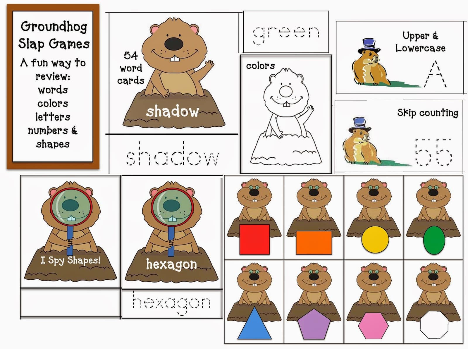 Groundhog Day Common Core Slapppin Games
