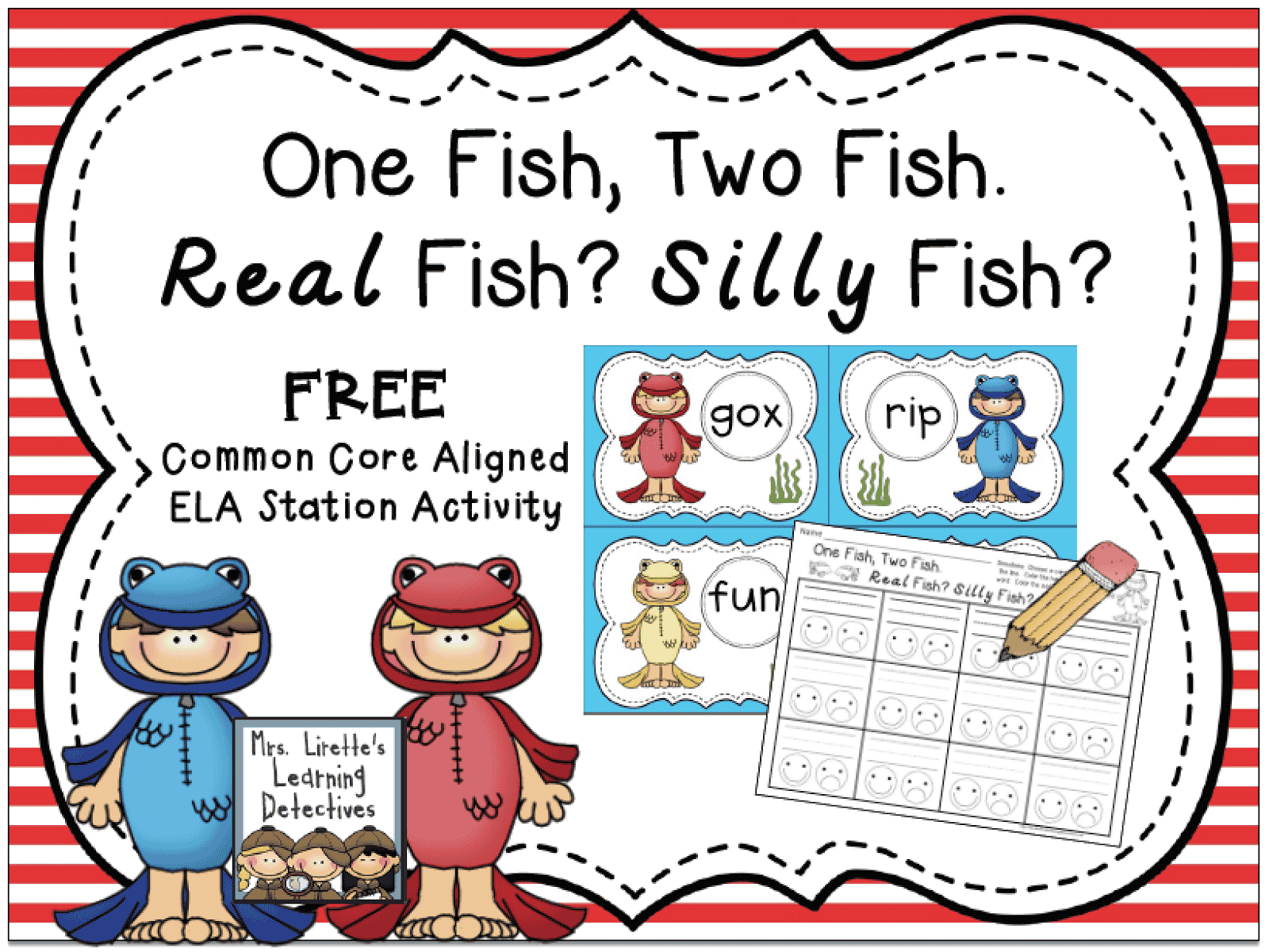 One Fish Two Fish Eebie For Dr Seuss Week