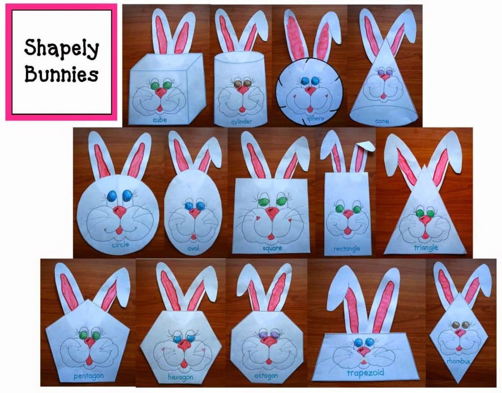 Hop Into Spring Bunny Shape Review Packet
