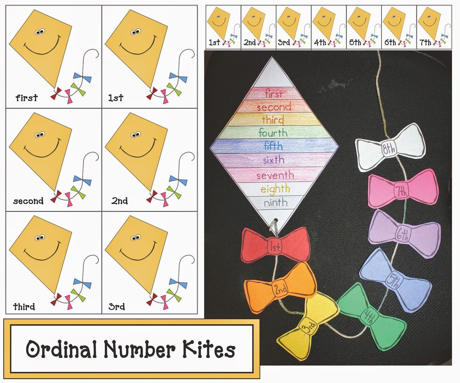 Ordinal Number Kite Activities