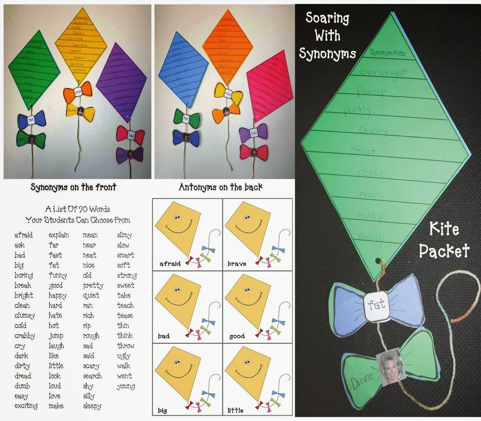 Soaring With Synonyms Kite Themed Packet