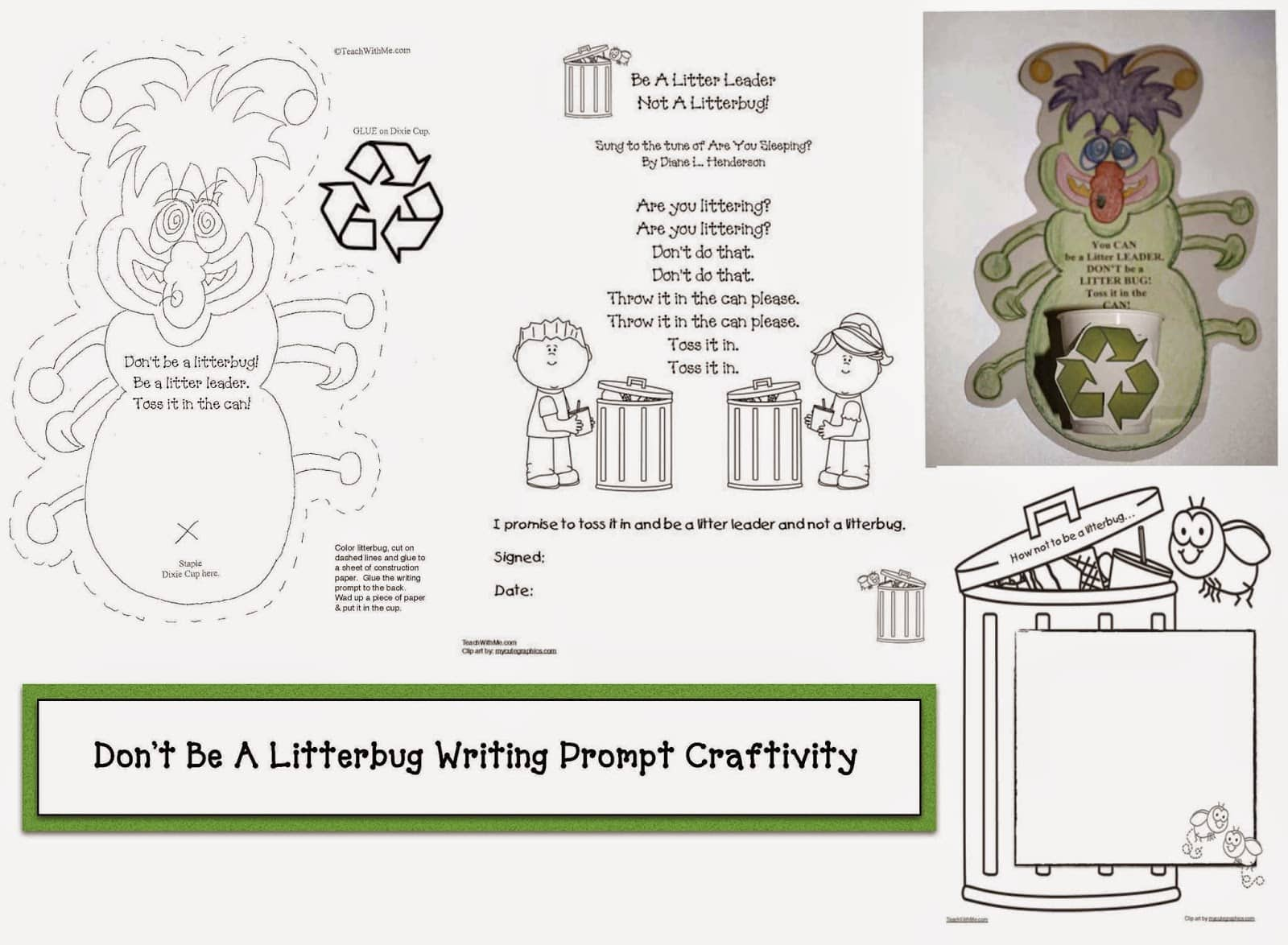 April Earth Day Writing Prompt Craftivity