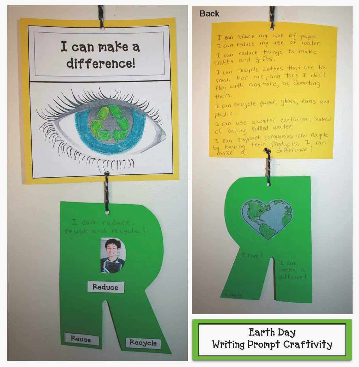 I Can Make A Difference Earth Day Writing Prompt Craft