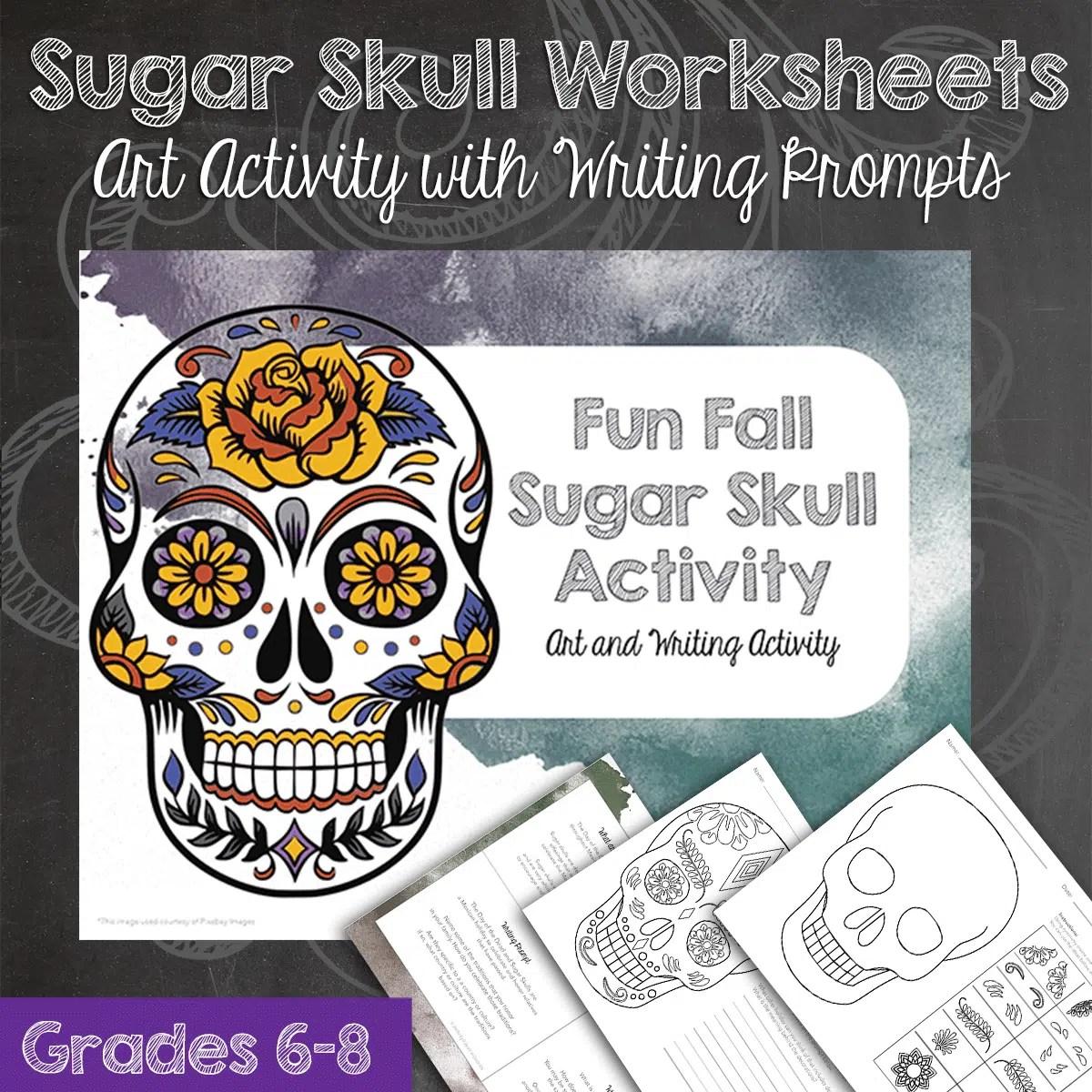 Fall Sugar Skulls Art Activity