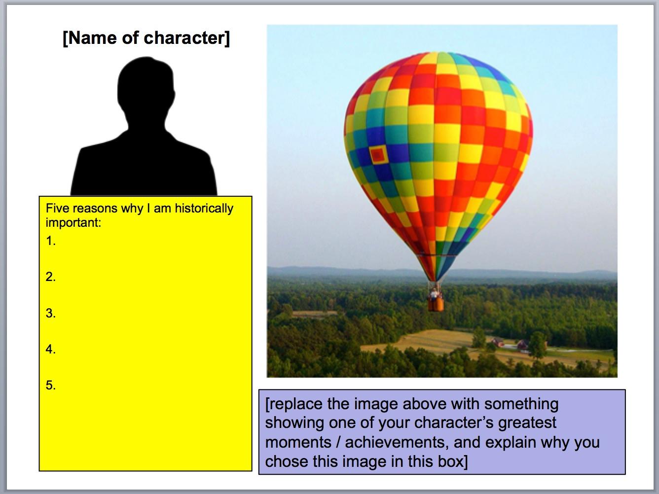 Balloon Debates  Templates And Tips