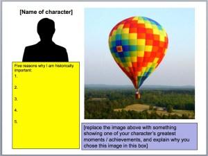 Balloon Debate: Research Template