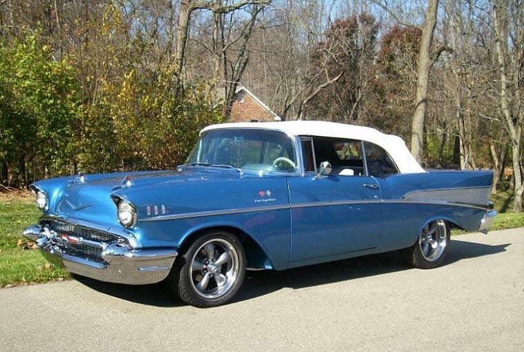 1957 Blue Chevrolet Bel Air Front Left Car Photo   Chevy Pics Front Left 1957 Chevrolet Bel Air Car Picture