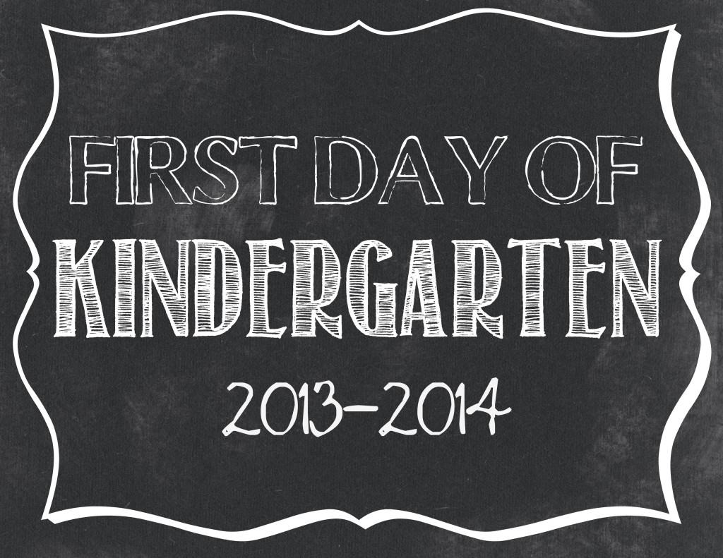 First Day Of School Free Printables Preschool 12th Grade