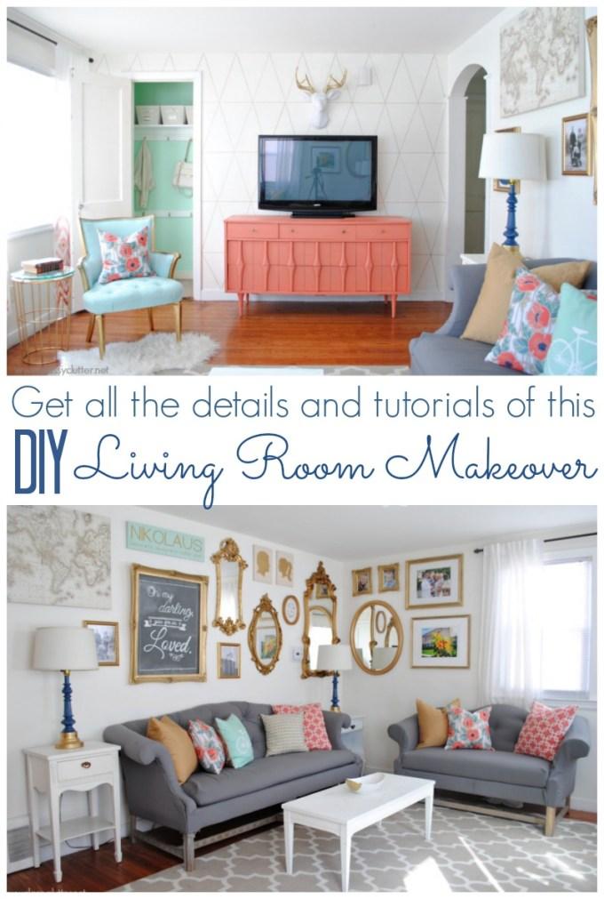 Living Room Makeover Diy