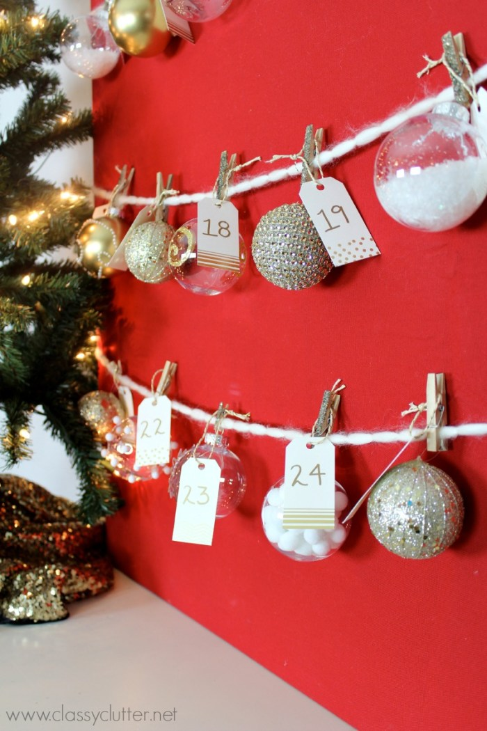 DIY Advent Ornament Tree 2