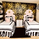 Black And Gold Girls Bedroom