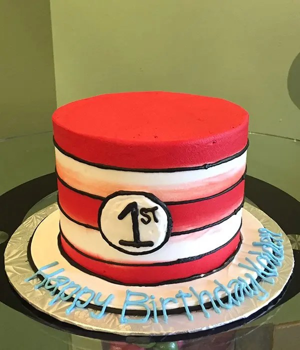 Dr Seuss Cat In The Hat Layer Cake Classy Girl Cupcakes