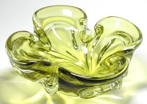 Chalet Olive Green Petal Bowl Console Centerpiece At