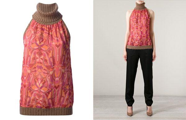 Missoni Vintage Sleeveless Silk and Wool Top